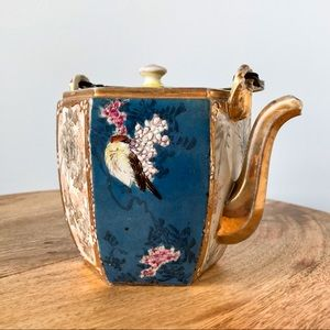 Stunning Gold and Colorful Tea Pot